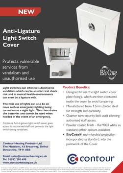Anti-Ligature Light Switch Cover