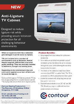 Anti-Ligature TV Cabinet
