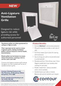 Anti-Ligature Ventilation Grille