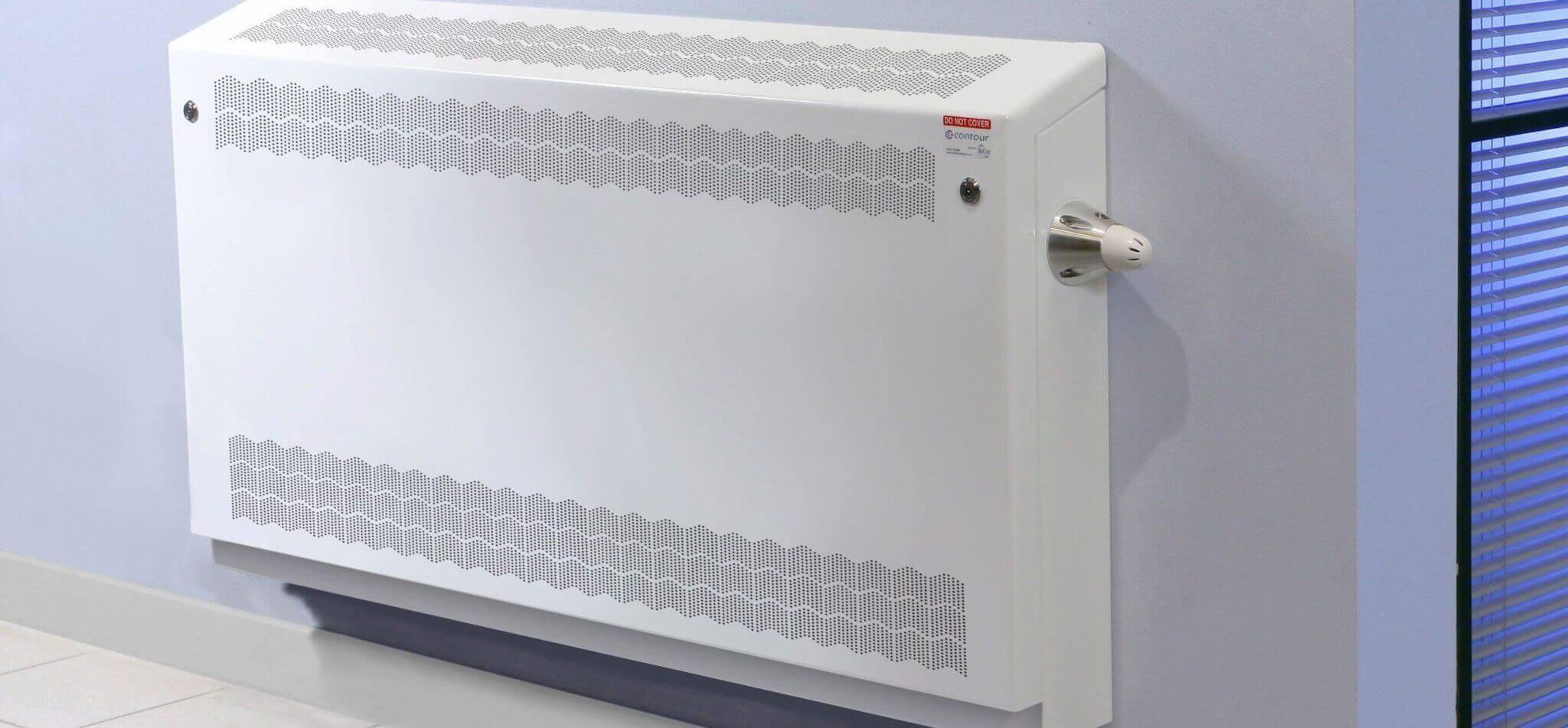 BioCote® anti-ligature gradient top wall mounted radiator