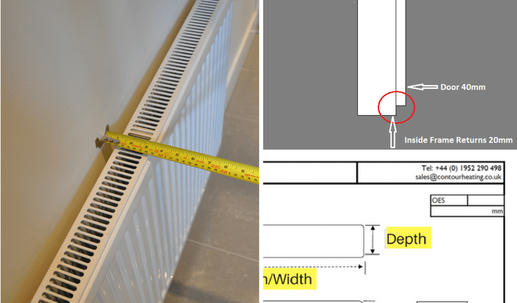 CAreful measurement of the depth ensures a good fit for the radiator cover