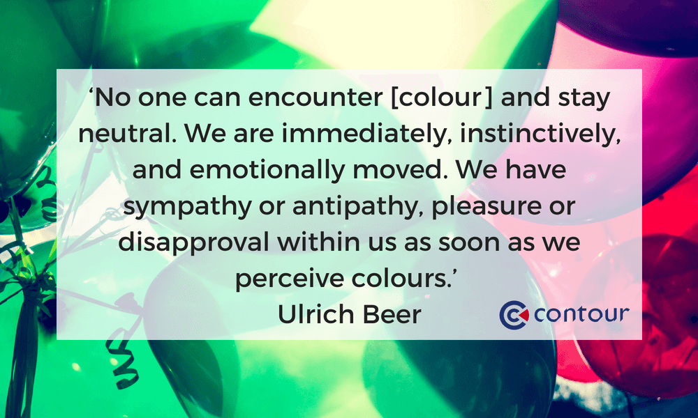 No one can encounter colour and stay neutral