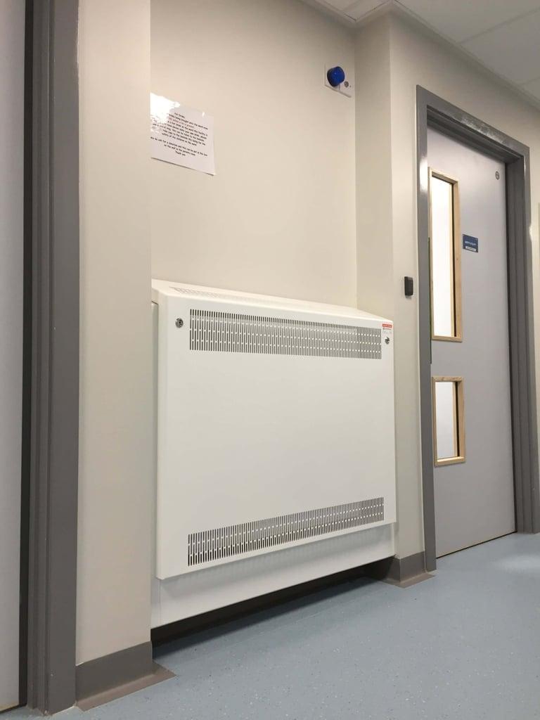 Metal radiator guards LST anti ligature care homes schools nurseries hospitals - contour heating