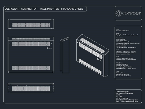 DeepClean - Sloping Top Wall Mounted  (Standard Grille)