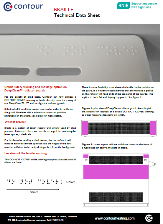 DeepClean Radiators & Guards Braille Datasheet