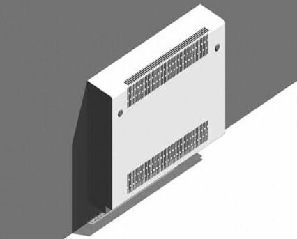 Deepclean Wall Mounted Square Top Radiator Guard