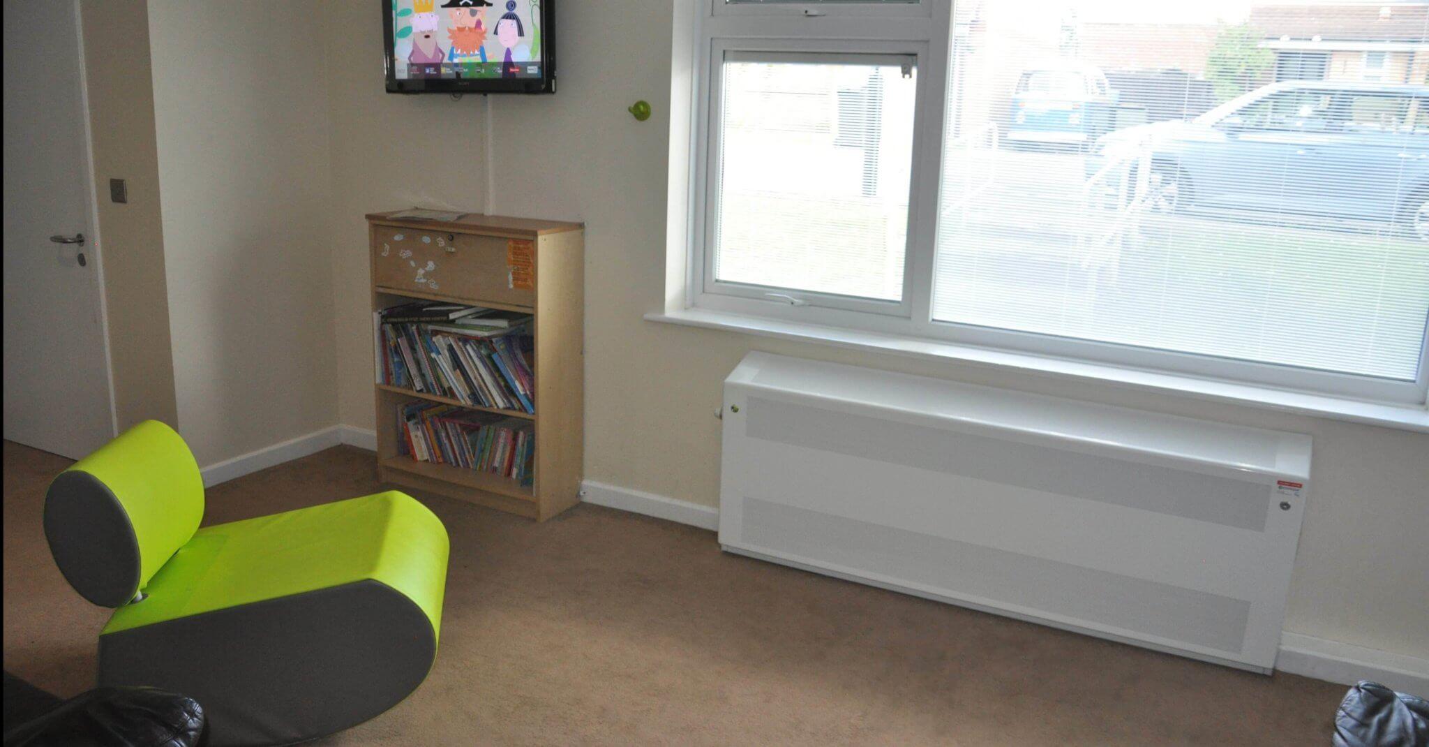 DeepClean IP3x anti-ligature radiators installed at children's resource centre